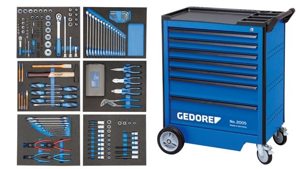 gedore 2005 ts 190 werkzeugwagen mit werkzeug werkzeuge. Black Bedroom Furniture Sets. Home Design Ideas